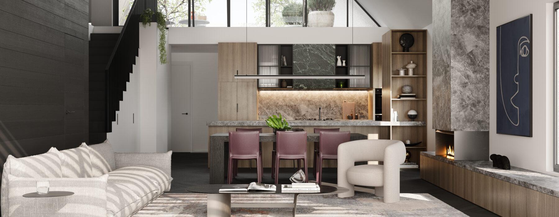 Brougham Kitchen Living Unit 3 Final www nordstudio com au JPG