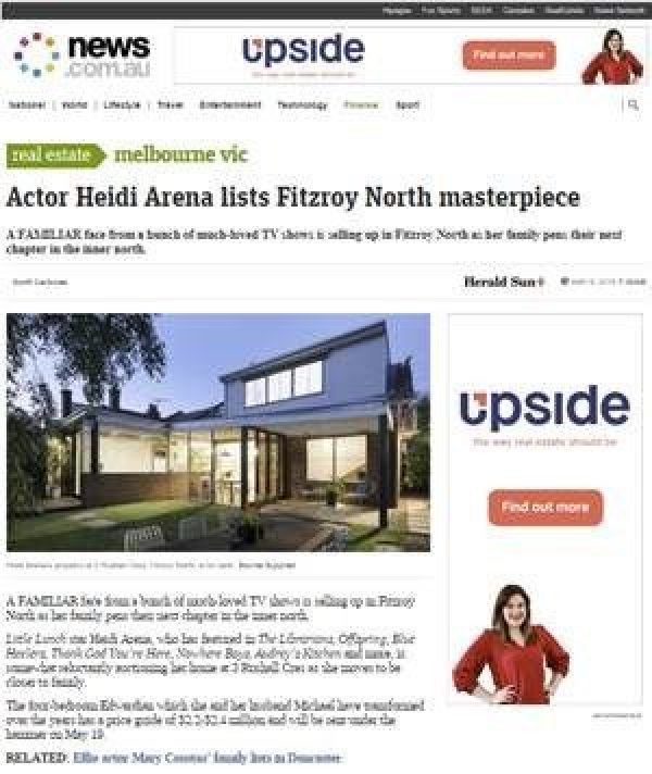Actor Heidi Arena lists Fitzroy North masterpiece