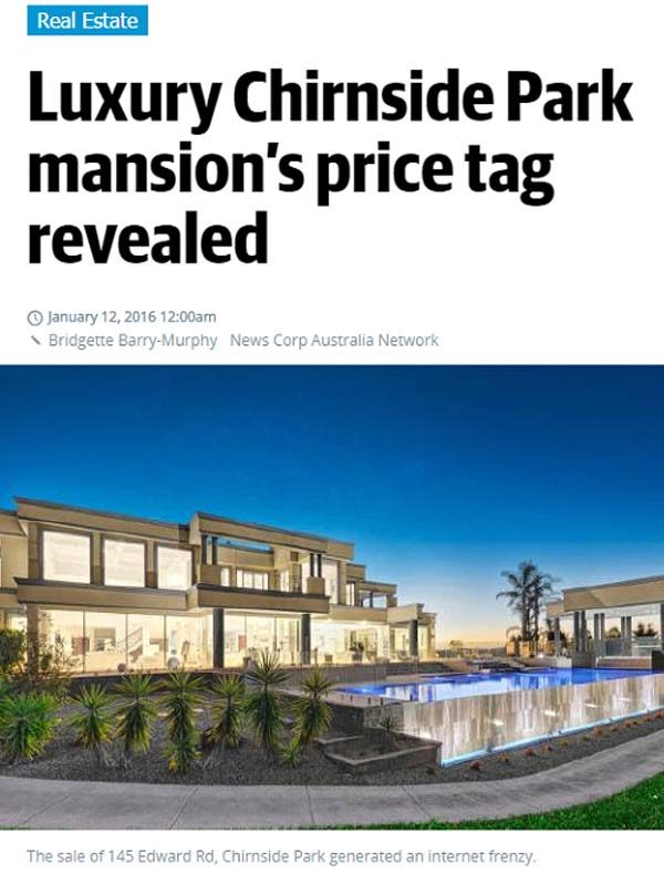 Luxury Chirnside Park mansion's price tag revealed
