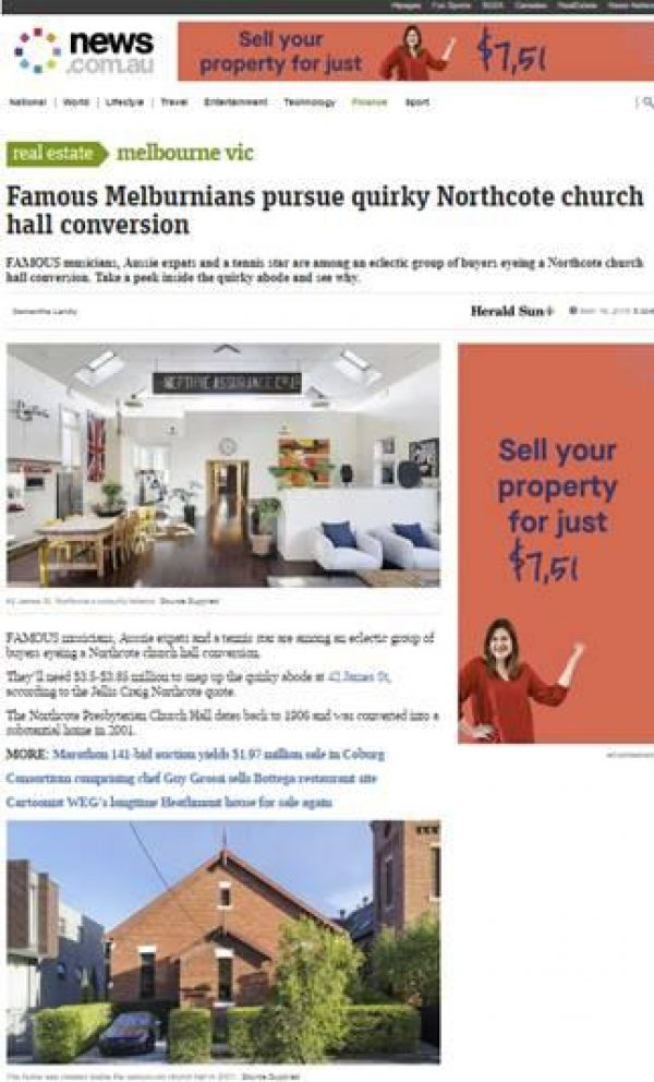 Famous Melburnians peruse quirky Northcote church hall conversion