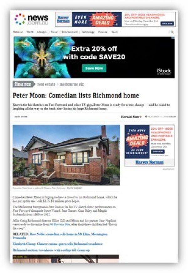Peter Moon: Comedian lists Richmond home
