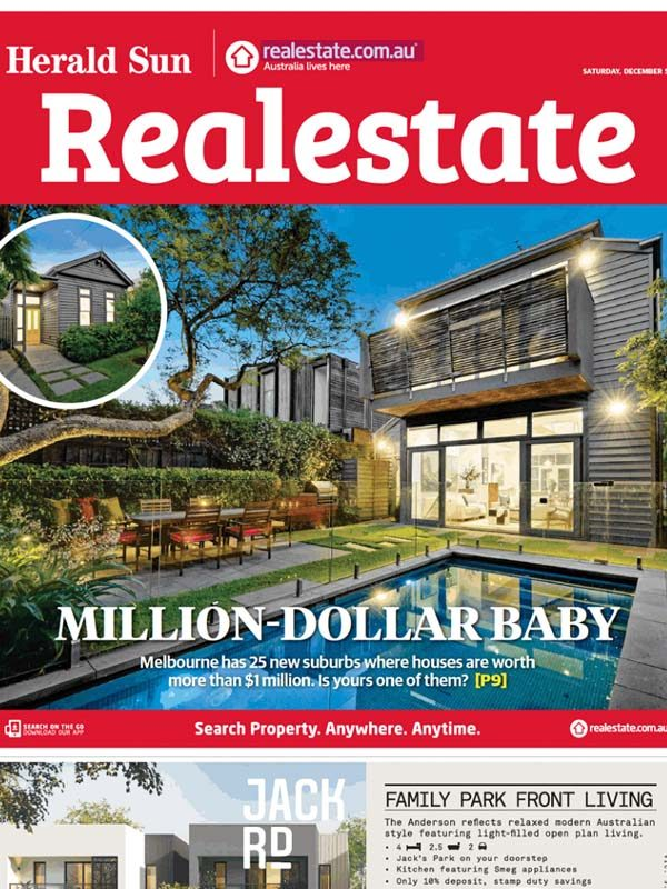 More million-dollar suburbs in Melbourne's east and north