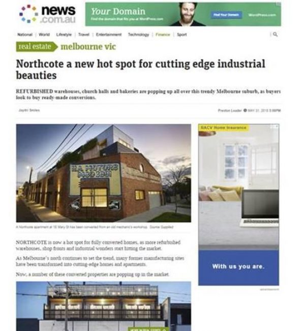 Northcote a new hot spot for cutting edge industrial beauties